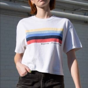 brandy melville cropped biarritz france t-shirt